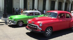 Stock Video Footage of Old Chevy in Old Havana, Cuba