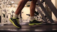 Man running indoor training Stock Footage