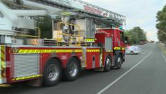 Speeding Fire Truck Stock Footage