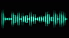 Green audio effects Stock Footage