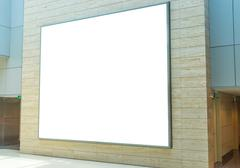 Blank advertising billboard Kuvituskuvat