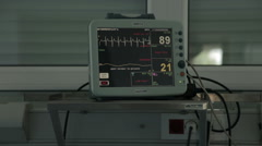 Monitoring of vital functions on intensive care.Monitor with impulses.Neurology. - stock footage