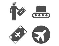 Stock Illustration of Aviation Icon Set