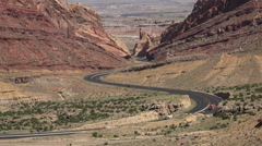 Spotted Wolf Canyon San Rafael Swell Utah traffic landscape 4K fast Stock Footage