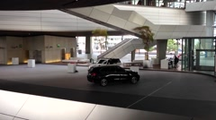 BMW WELT, the famous BMW Showroom in Munich, Germany Stock Footage