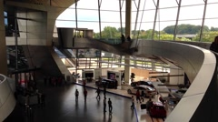 BMW WELT, the famous BMW Showroom in Munich, Germany - stock footage