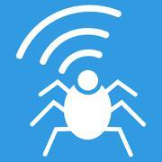 Stock Illustration of Radio spy bug icon from Business Bicolor Set
