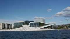 The Oslo Opera House in Norway Stock Footage