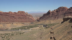 Spotted Wolf Canyon San Rafael Utah traffic landscape 4K fast Stock Footage