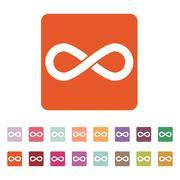 The infinity icon. Infinity symbol. Flat - stock illustration