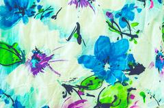 Floral fabric Designs - stock photo