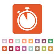 The stopwatch icon. Countdown symbol. Flat - stock illustration
