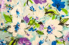 Floral fabric Designs Stock Photos