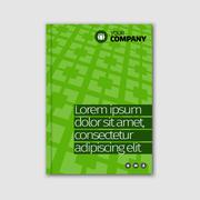 Green business design with headline and pattern background. Stock Illustration