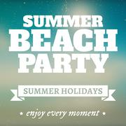 Summer beach party page with holidays Stock Illustration