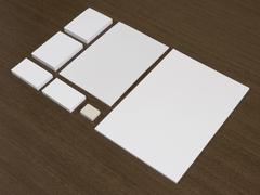 Blank set of corporate identity templates. Stock Photos