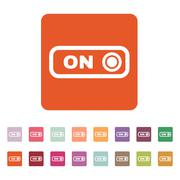 Stock Illustration of The on button icon. Switch symbol. Flat