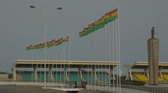 Ghana Accra flags 4K Stock Footage
