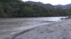 River Ganga in Rishikesh Stock Footage