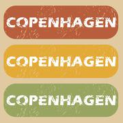 Vintage Copenhagen stamp set - stock illustration