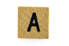 Wooden alphabet blocks with letters A Stock Photos