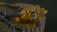 Stock Video Footage of 4K Ancient Sarcophagus of Pharaoh Mummy Tomb Artifact