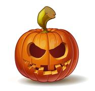 Pumpkins Toothy Smile - stock illustration