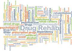 Drug rehab background concept Stock Illustration