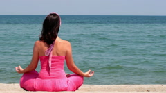Yoga exercises for the mind and body - stock footage