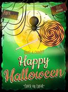 Stock Illustration of Halloween poster for holiday. EPS 10