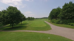 Golf course from above filmed by drone Stock Footage