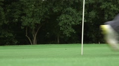 Close up of walking people at golf course Stock Footage