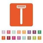 The shaving razor icon. Shaver symbol. Flat - stock illustration