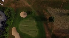 Stock Video Footage of golf course filmed by a drone