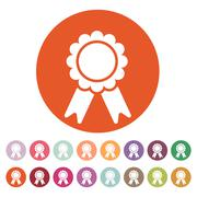 The award icon. Achievement symbol. Flat Stock Illustration