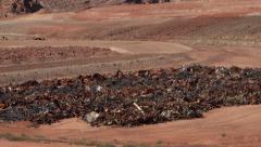 Moab Utah radioactive uranium building cleanup UMTRA 4K Stock Footage