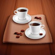 Coffee Realistic Background Stock Illustration