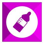 Baby bottle - stock illustration