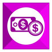 Dollar banknote and dollar sign - stock illustration