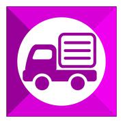 Lorry icon - stock illustration