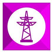 Power transmission line Stock Illustration