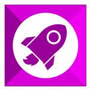 Space rocket - stock illustration