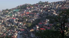 Shimla city view,Shimla,Himachal Pradesh,India Stock Footage