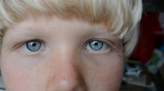 A boy of 10 years looking. Stock Footage