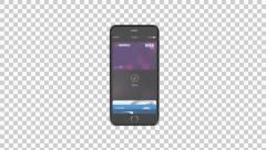 Apple Pay payment process with iPhone 6 Stock Footage