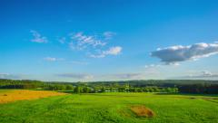 8K summer landscape, panoramic timelapse Stock Footage