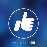 like hand ok icon vector line design - stock illustration