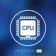 Circuit board  icon Technology scheme square symbol design - stock illustration