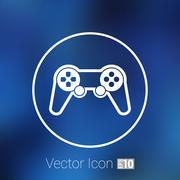 joystick icon Rounded squares button console controller. - stock illustration