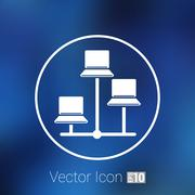 Network - vector icon networking wired lan web - stock illustration
